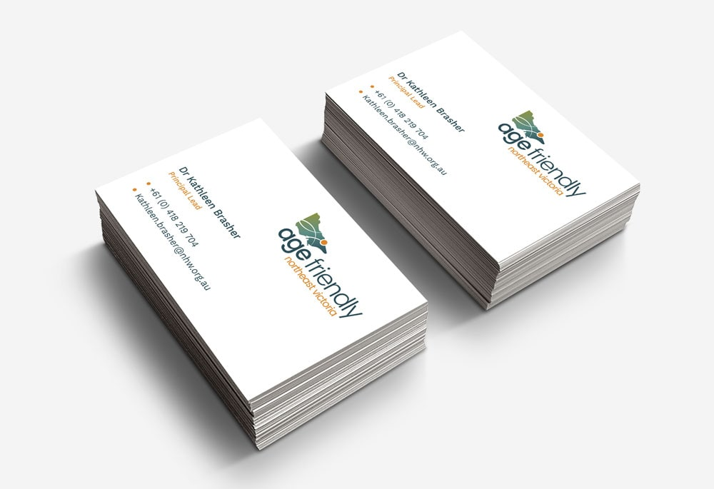 Age Friendly Northeast Victoria - Business Cards