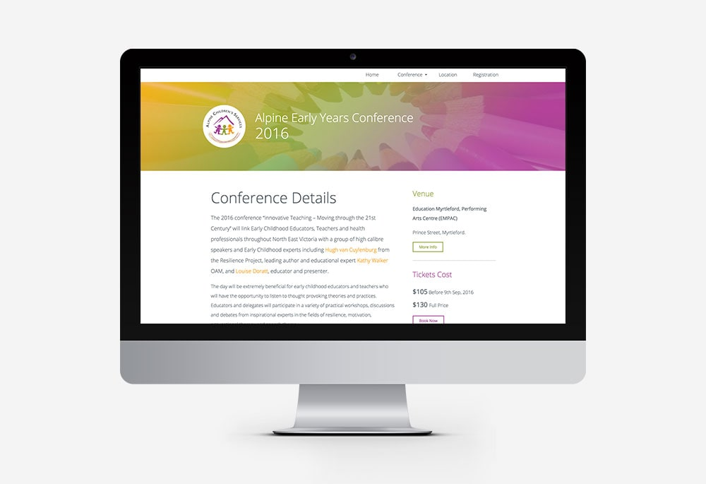 Alpine Early Years Conference - Website