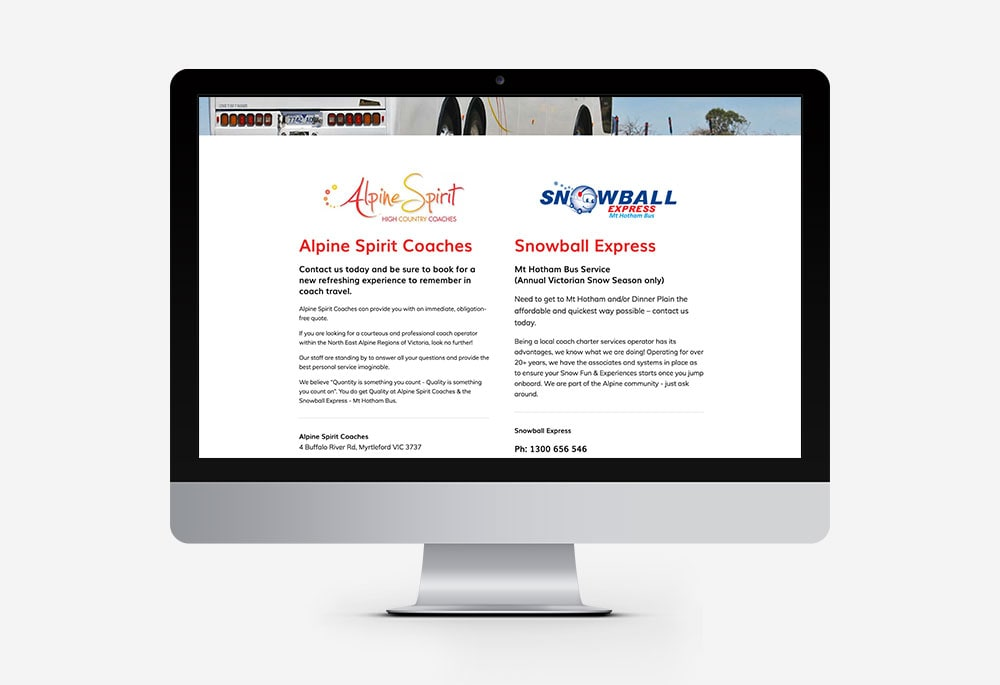 Alpine Spirit Coaches - Website