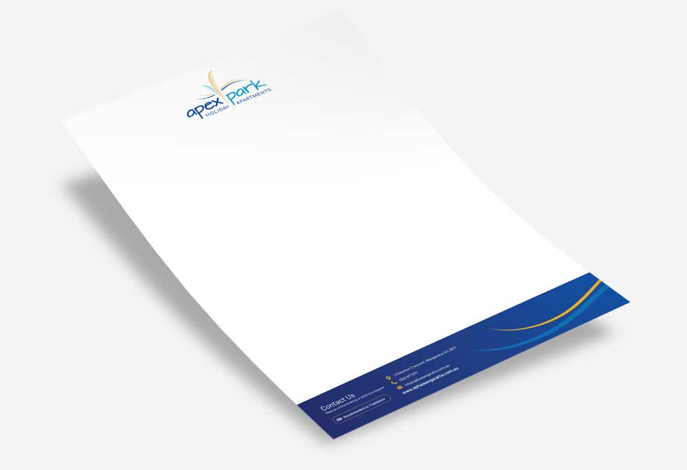 Apex Park Holiday Apartments - Letterhead