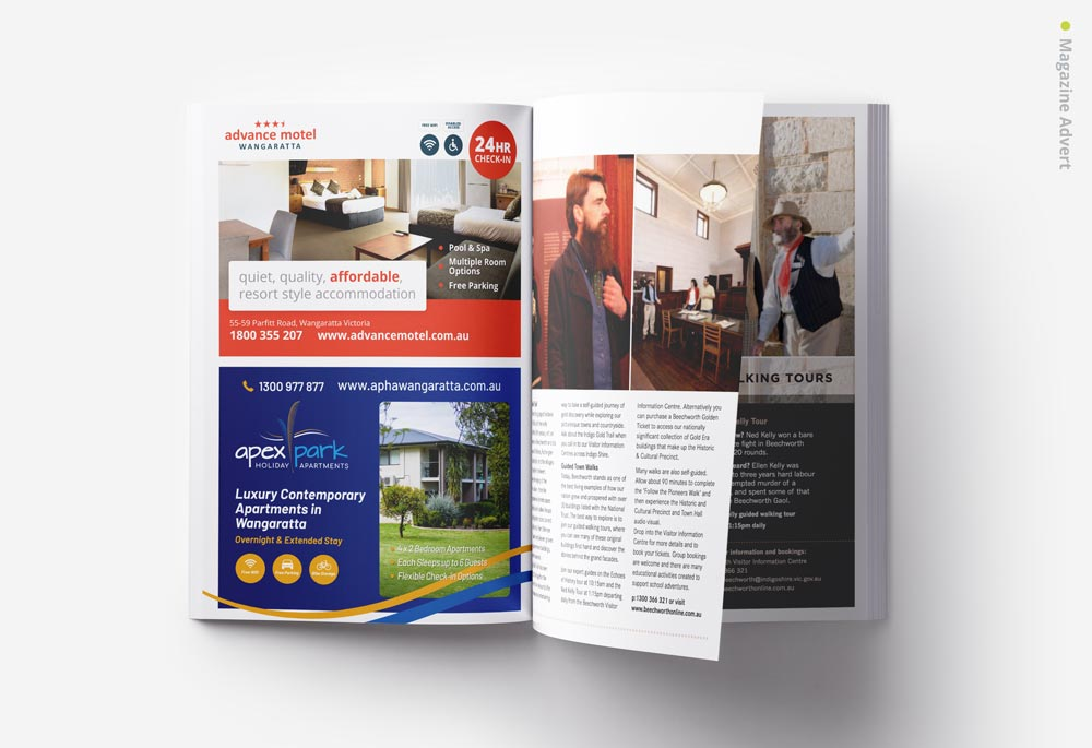 Apex Park Holiday Apartments - Magazine Advertisement