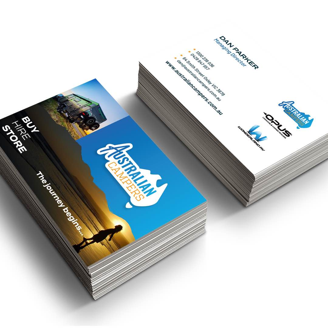 Australian Campers - Business Cards