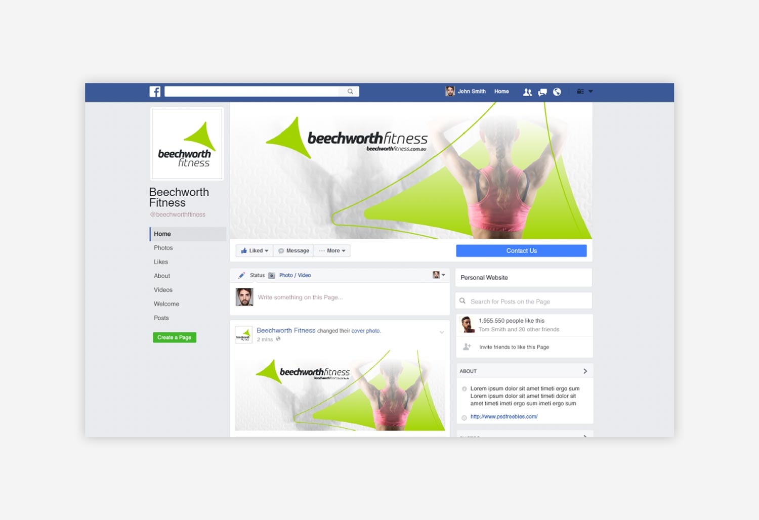 Beechworth Fitness - Facebook Graphics
