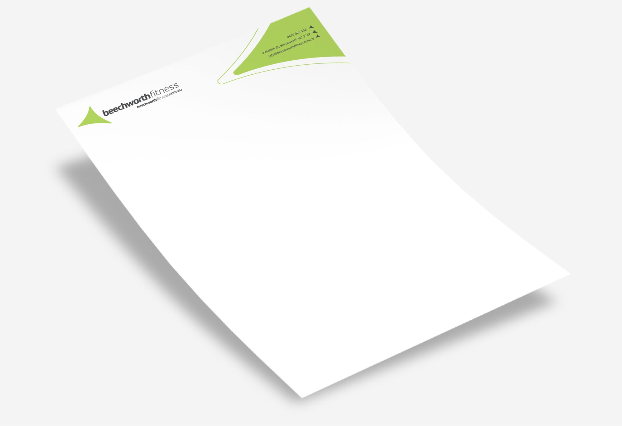 Beechworth Fitness - Letterhead