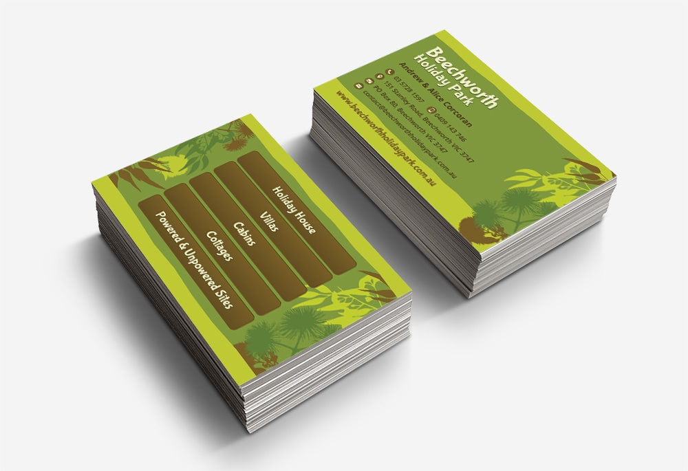 Beechworth Holiday Park - Business Cards