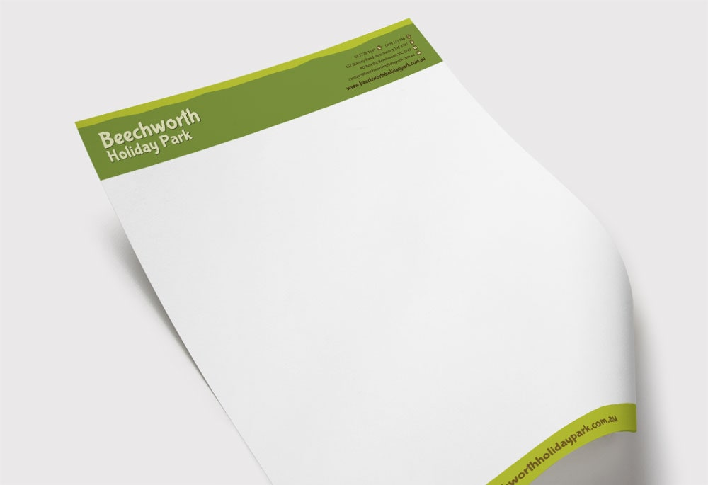 Beechworth Holiday Park - Letterhead