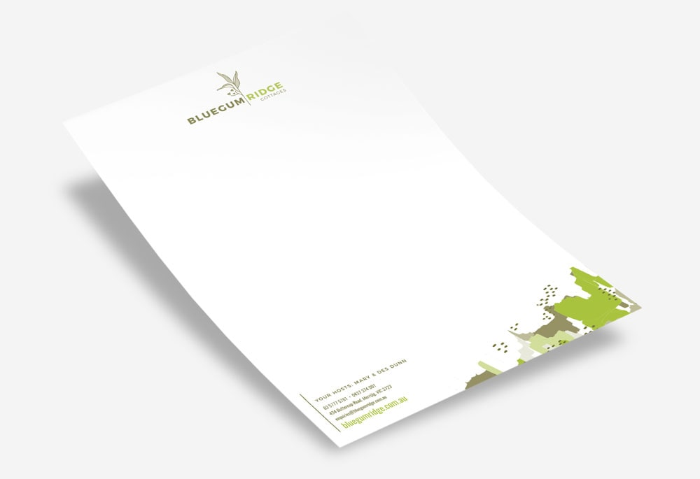 Bluegum Ridge Cottages - Letterhead