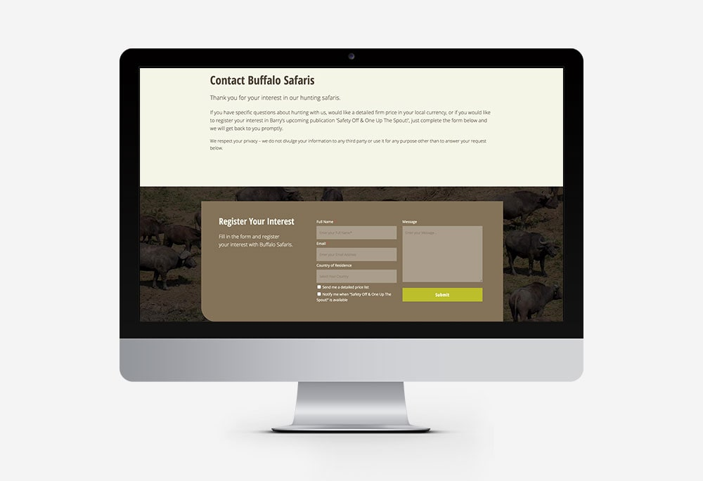 Buffalo Safaris - Website