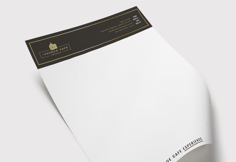 The Church Cafe - Letterhead