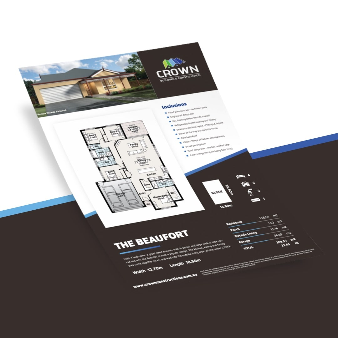 Crown Building & Construction - House Plan Flyers