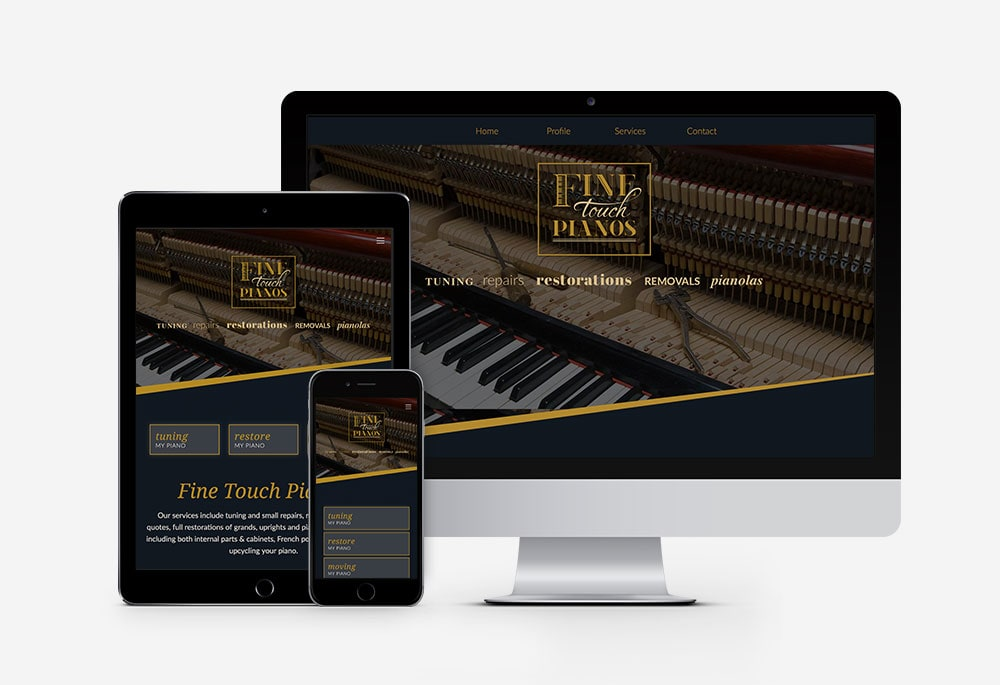 Fine Touch Pianos - Website
