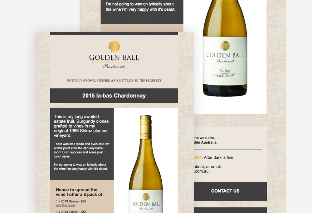 Golden Ball - Email Marketing