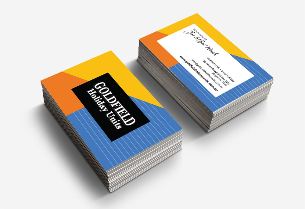 Goldfield Holiday Units - Business Cards