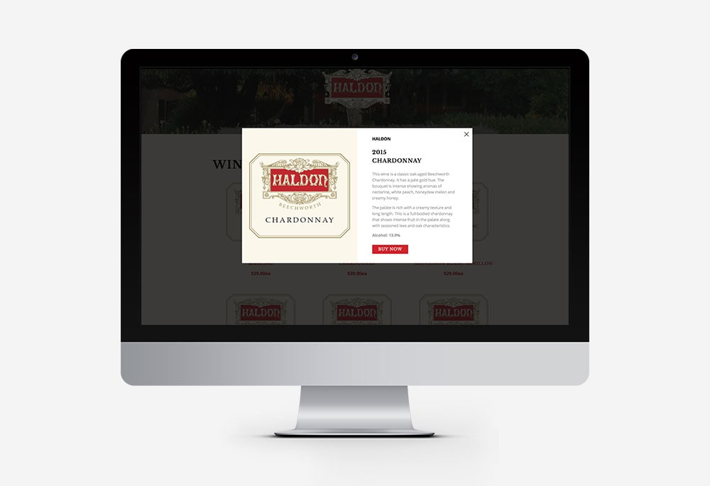 Haldon Estate Wines - Website