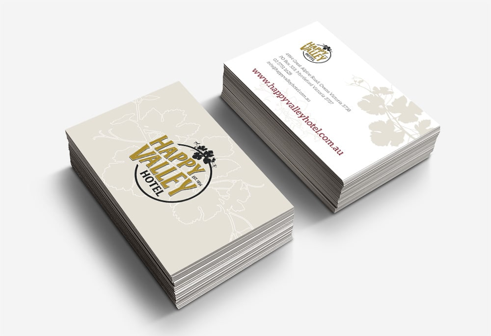 Happy Valley Hotel - Business Cards