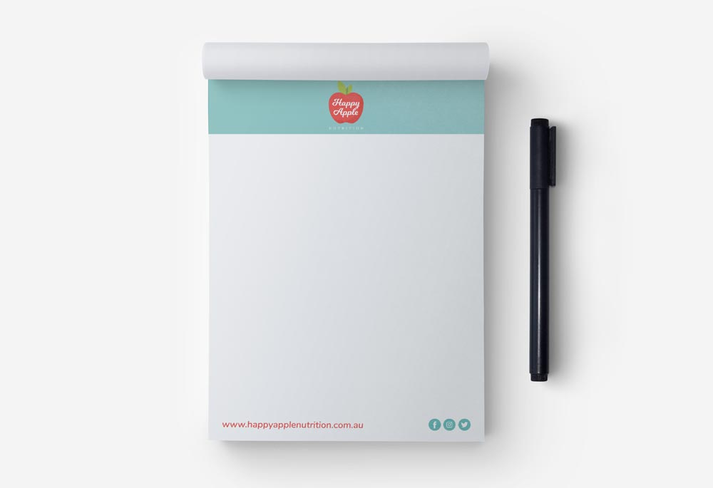 Happy Apples Nutrition - Notepad