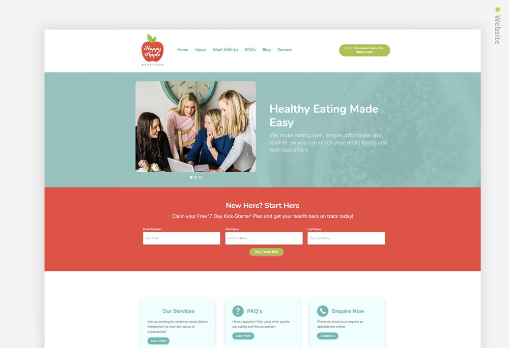Happy Apples Nutrition - Website