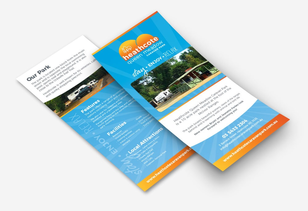 Heathcote Queen Meadow Caravan Park - DL Brochure