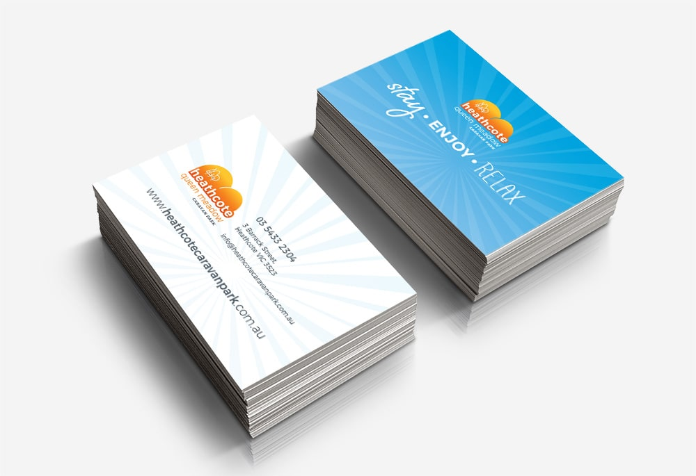 Heathcote Queen Meadow Caravan Park - Business Cards