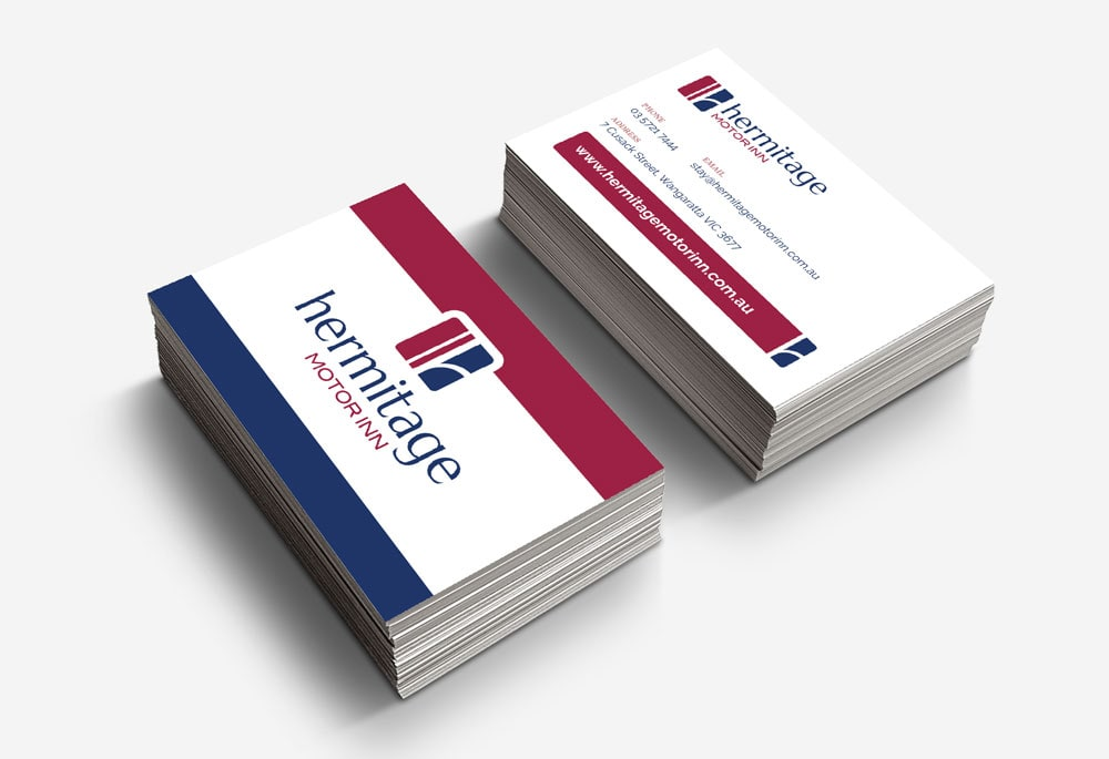 Hermitage Motor Inn - Business Cards