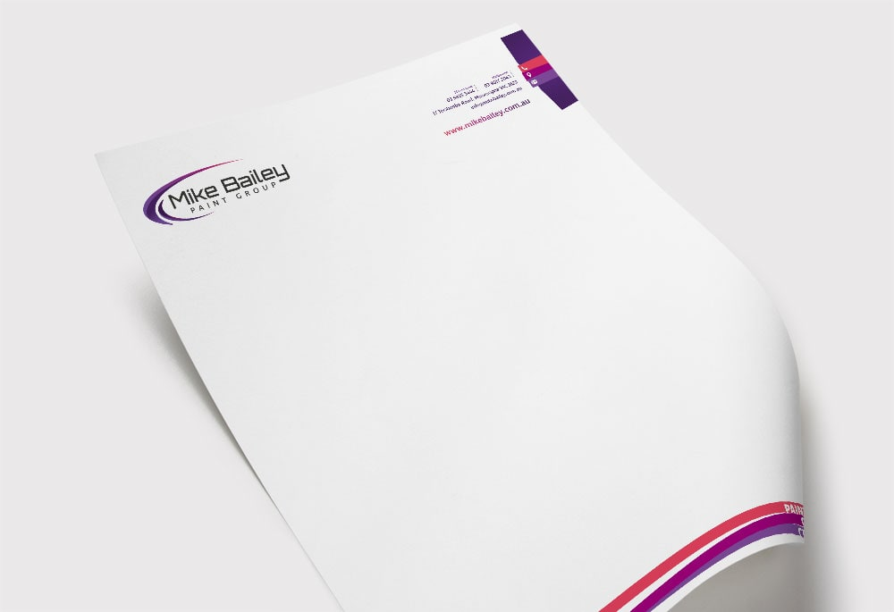 Mike Bailey Paint Group - Letterhead