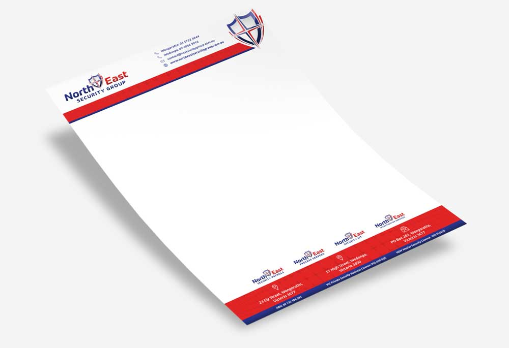North East Security Patrols - Letterhead