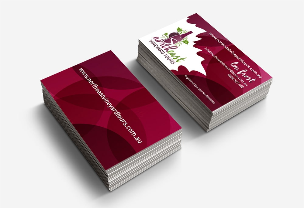 North East Vineyard Tours - Business Cards