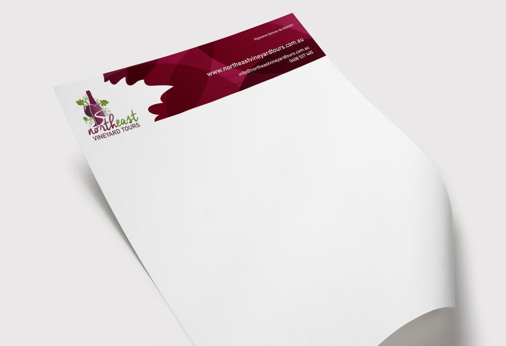 North East Vineyard Tours - Letterhead