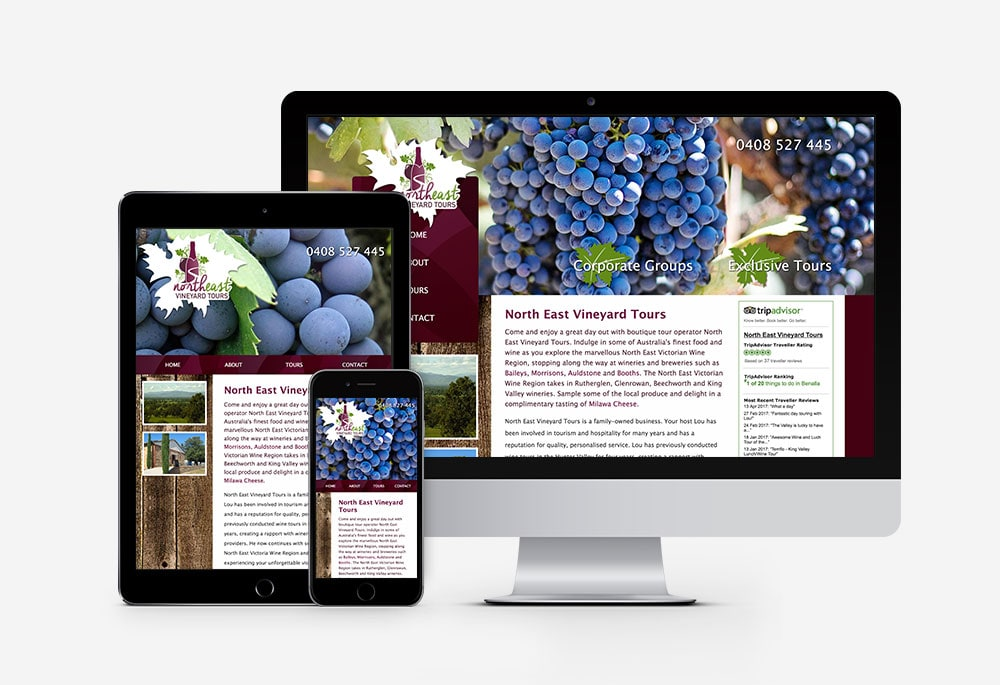 North East Vineyard Tours - Website
