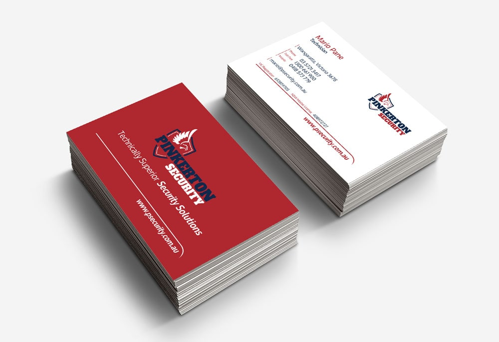 Pinkerton Security - Business Cards
