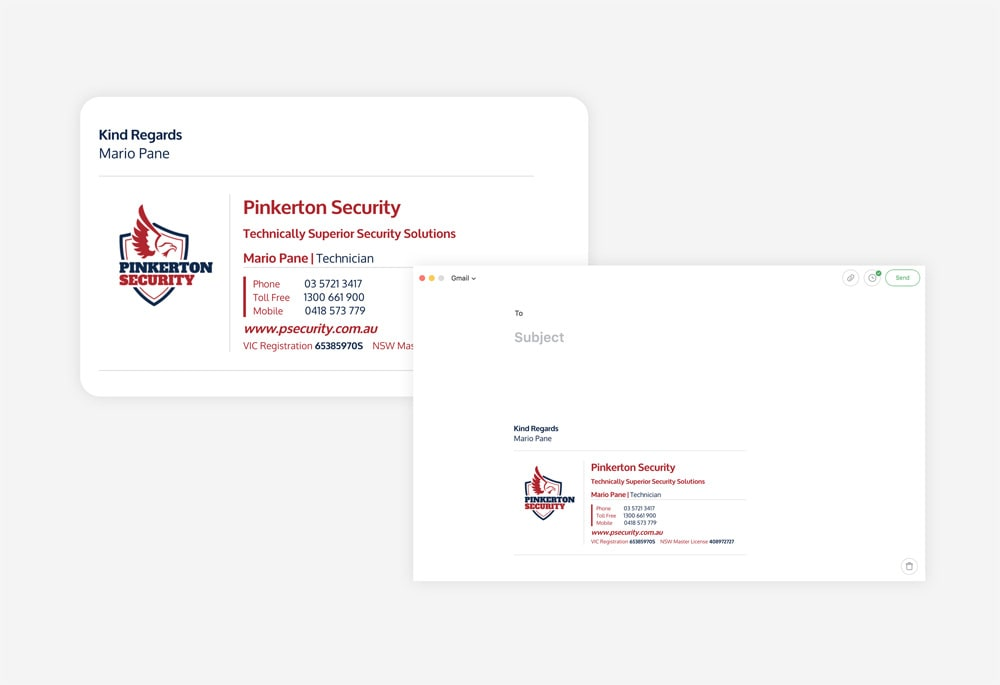 Pinkerton Security - Email Signature