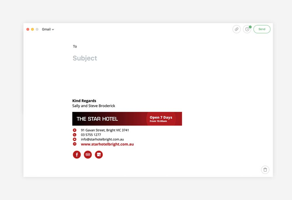 The Star Hotel - Email Signature