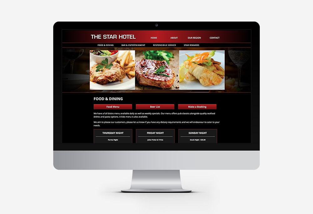 The Star Hotel - Website
