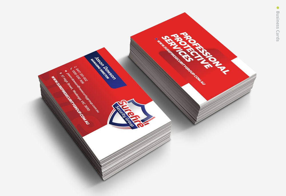 Surefire Security Group - Business Cards