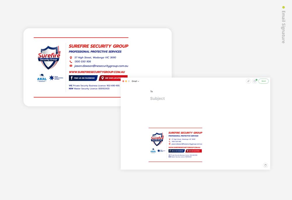 Surefire Security Group - Email Signature