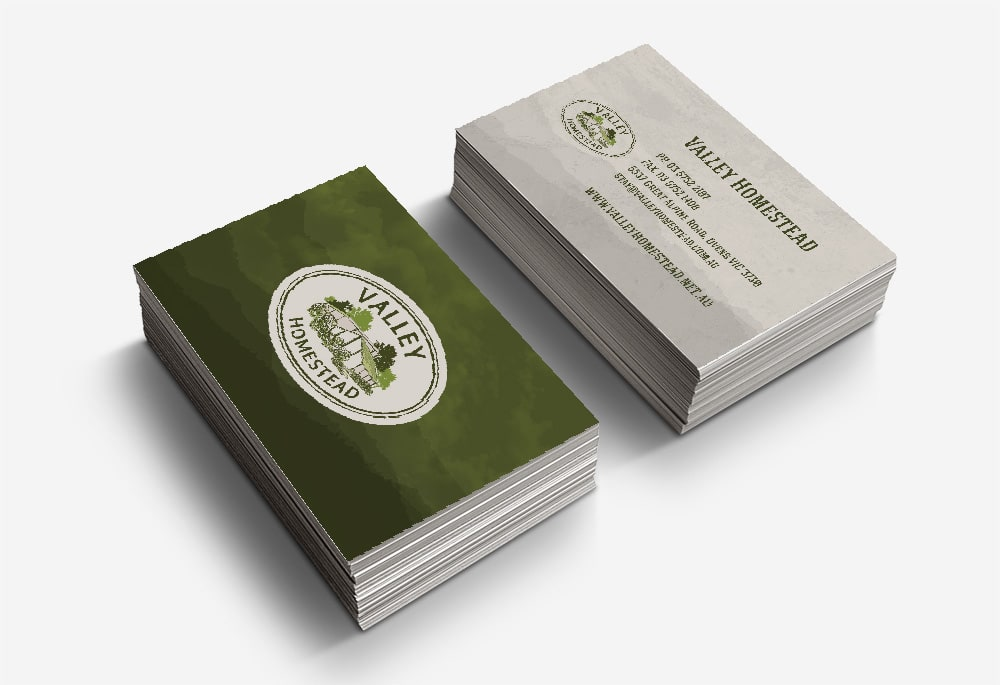 Valley Homestead - Business Cards