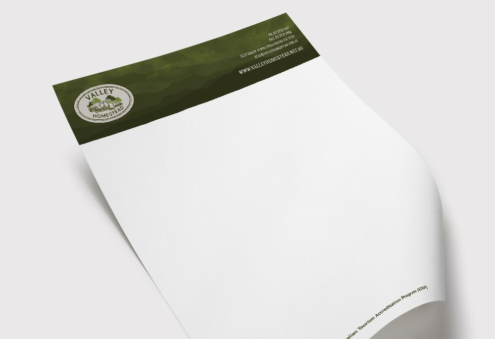 Valley Homestead - Letterhead