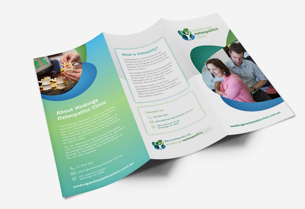 Wodonga Osteopathic Clinic - Trifold Brochure
